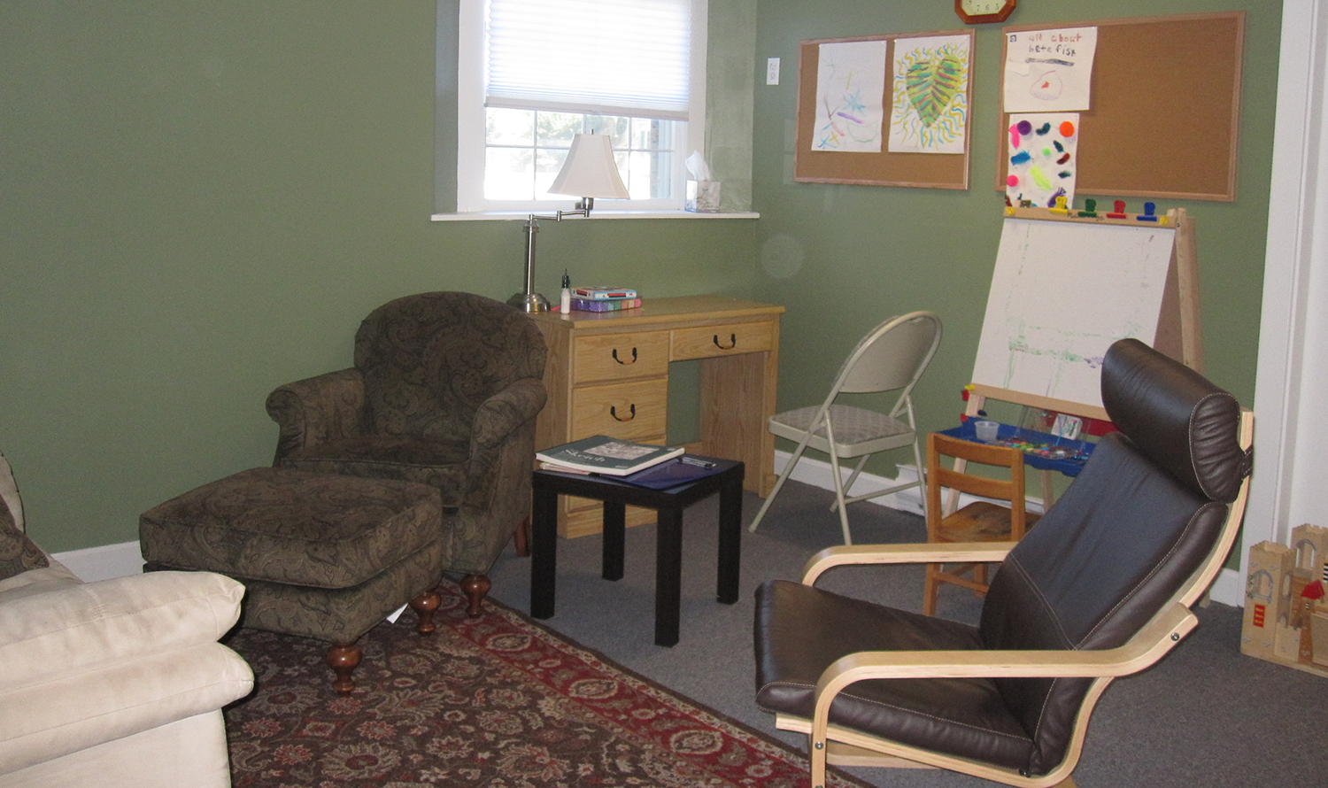Play therapy area.